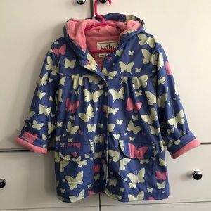 Hatley Butterfly Raincoat w/Terry Lining